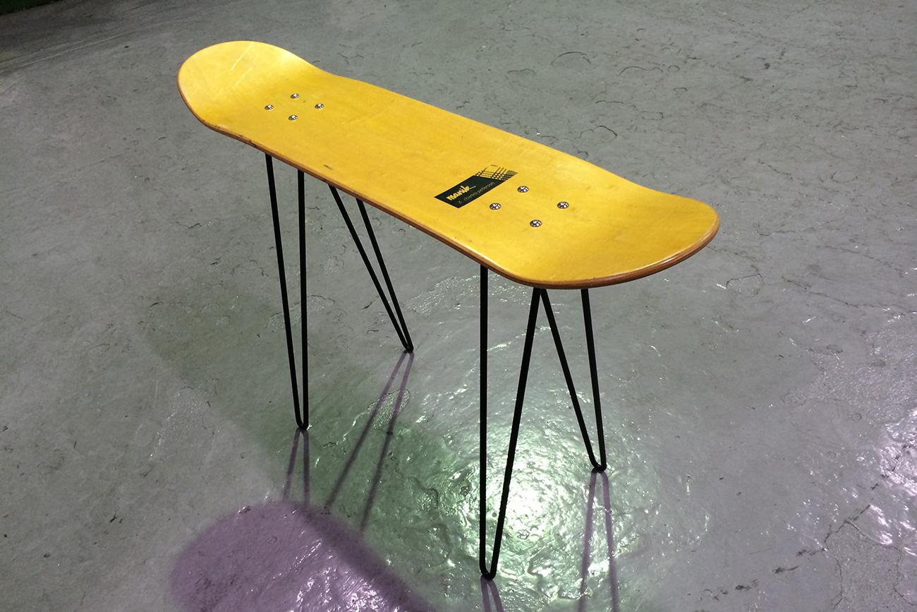 ron leg for skateboard table