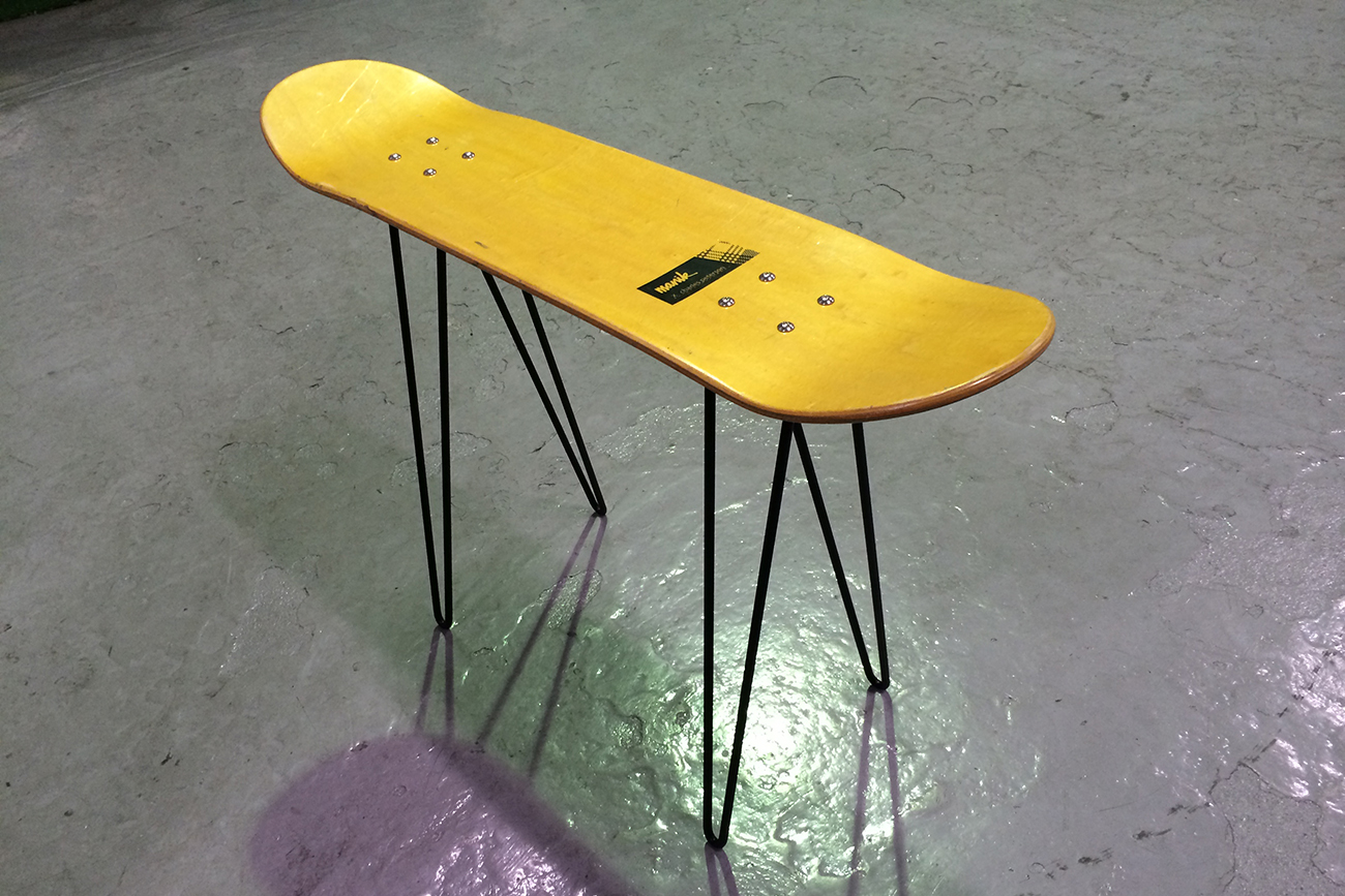 ron leg for skateboard table