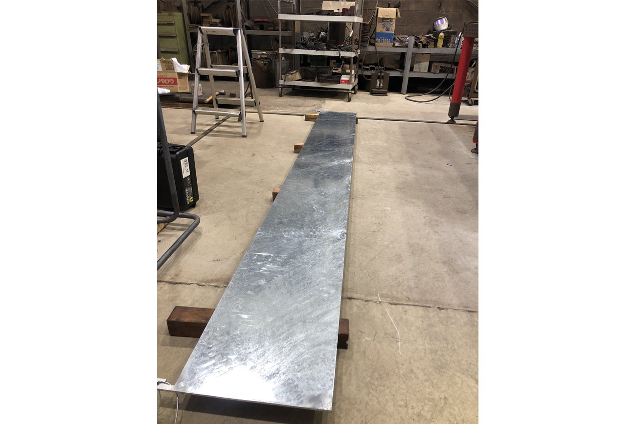 Long counter top plate (Finish/hot galvanized)
