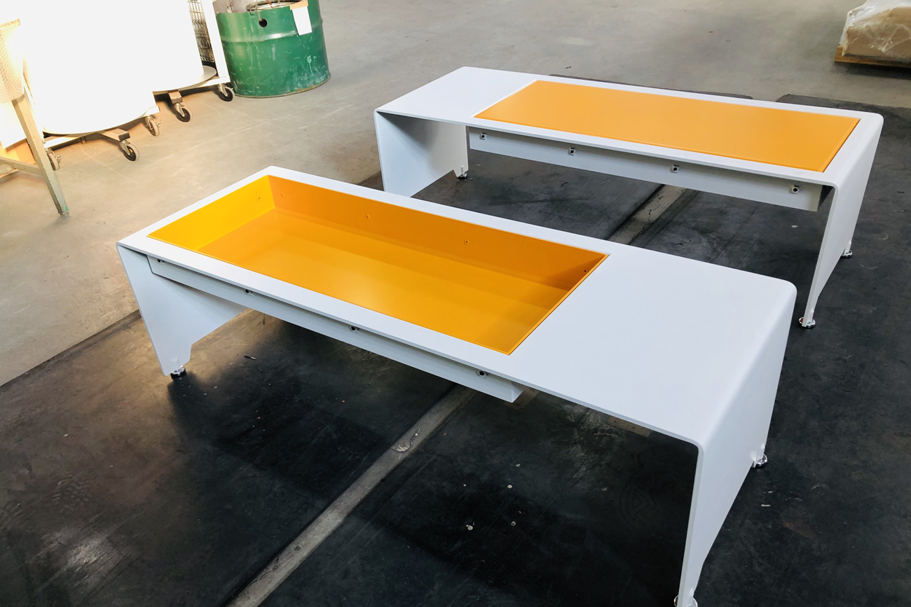Bench and display table